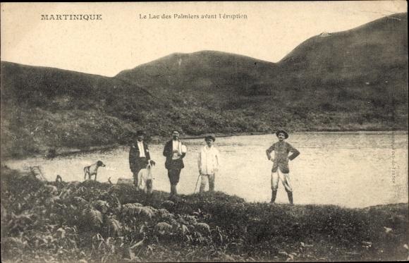 Ak Martinique, Le Lac des Palmiers avant l'éruption