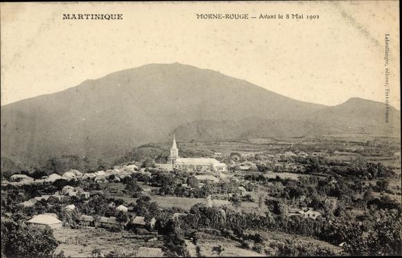 Ak Morne Rouge Martinique, Avant le 8 Mai 1902 0