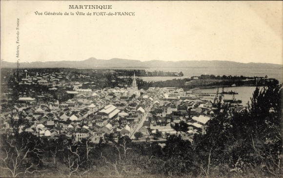Ak Fort de France Martinique, Vue générale de la Ville