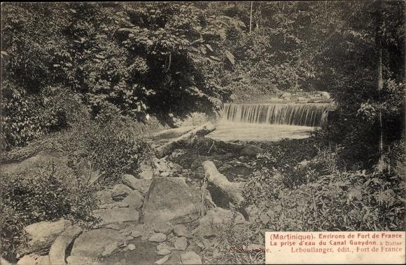 Ak Fort de France Martinique, La prise d'eau du Canal Gueydon à Didler 0