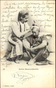 Ak Barbier Maure et Mozabite, Portrait, Algérie