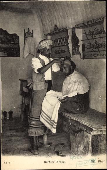 Ak Barbier Arabe, Portrait