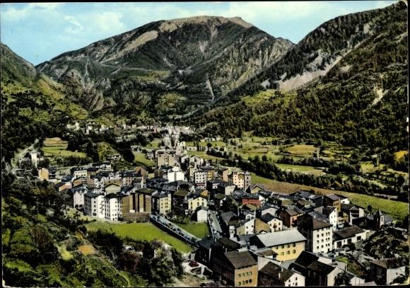 Ak Andorra la Vella Andorra, Vue générale