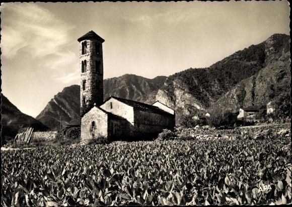 Ak Santa Coloma Andorra, Église Romane