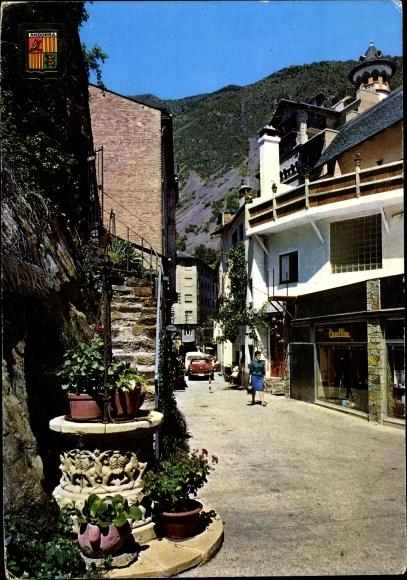 Ak Andorra la Vella Andorra, Roc dels Escolls, Recó tipico