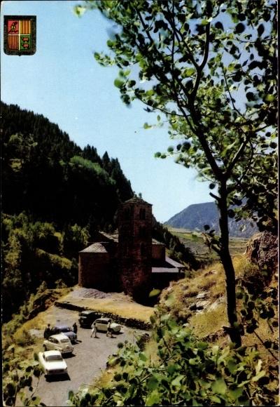 Ak Canillo Andorra, Église roman de Saint Jean de Casellas