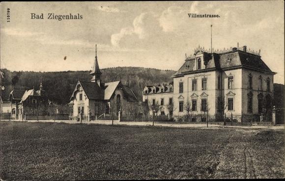 Ak Głuchołazy Zdrój Bad Ziegenhals Schlesien, Villenstraße, Villa Springer