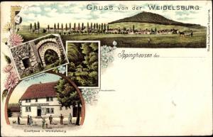 Litho Ippinghausen Wolfhagen in Nordhessen, Weidelsburg, Gasthaus, Freudenstein