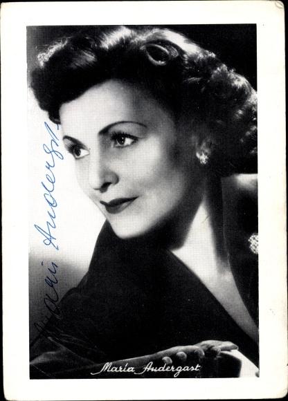 Ak Schauspielerin Maria Andergast, Portrait, Autogramm