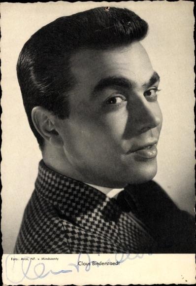 Ak Schauspieler Claus Biederstaedt, Portrait, Autogramm