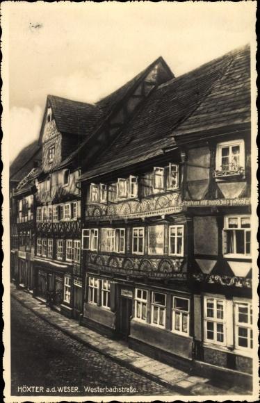 Ak Höxter in Nordrhein Westfalen, Weserbachstraße