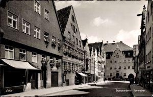 Ak Donauwörth in Schwaben, Ortspartie