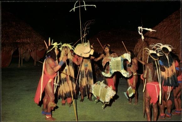 Ak Guyane Francaise Französisch Guayana, Haut Itany, Danse du Maraké chez les indiens Wayana