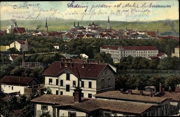 Ak Olomouc Olmütz Stadt, Totalansicht von Ort