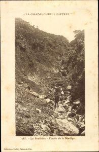Ak Guadeloupe, La Soufrière, Coulée de la Matilys