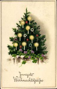 Tannenbaum Mit Kerzen.Weihnachten Lied O Tannenbaum Kerzen 1905 Prägekarte 40835