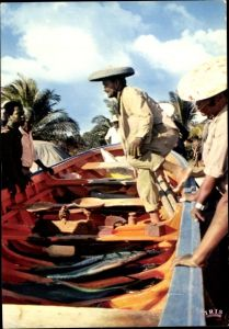 Ak Guadeloupe, Vente du poisson au retour de pêche