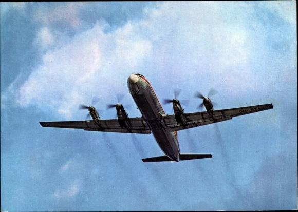 Ak Interflug, Propeller Turbinenverkehrsflugzeug Iljuschin Il 18