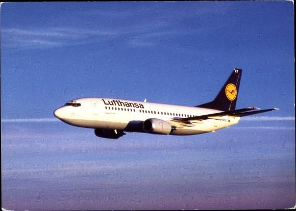 Ak Deutsches Passagierflugzeug, Lufthansa, Boeing 737 300