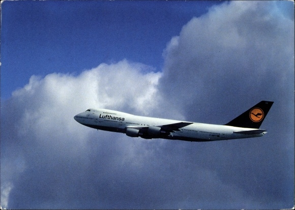 Ak Deutsches Passagierflugzeug, Lufthansa, Boeing 747 200