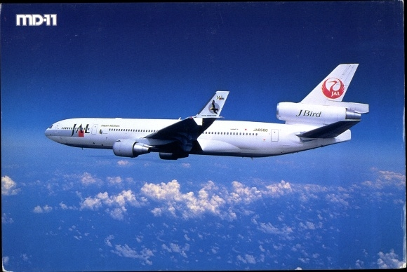 Ak Japanisches Passagierflugzeug, JAL, Japan Airlines, MD 11, J Bird