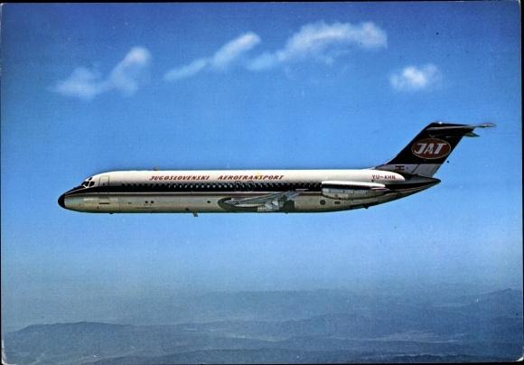 Ak Jugoslawisches Passagierflugzeug, Yugoslav Airlines, Douglas DC 9