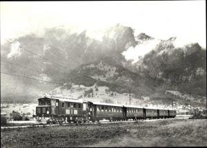 Ak Schweizer Eisenbahn, Probefahrt einer Diesellok bei Landquart, SLM Winterthur