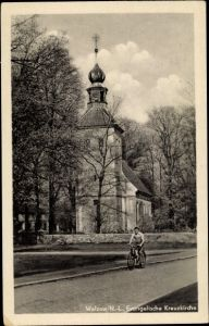 Ak Welzow Niederlausitz, Ev. Kreuzkirche