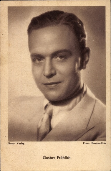 Ak Schauspieler Gustav Fröhlich, Portrait, Ross Verlag