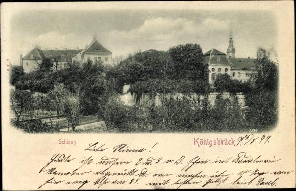 Relief Ak Königsbrück in der Oberlausitz, Schloss