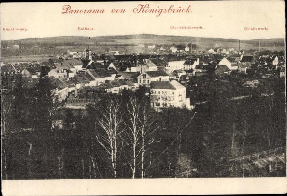 Ak Königsbrück in der Oberlausitz, Panorama von Königsbrück