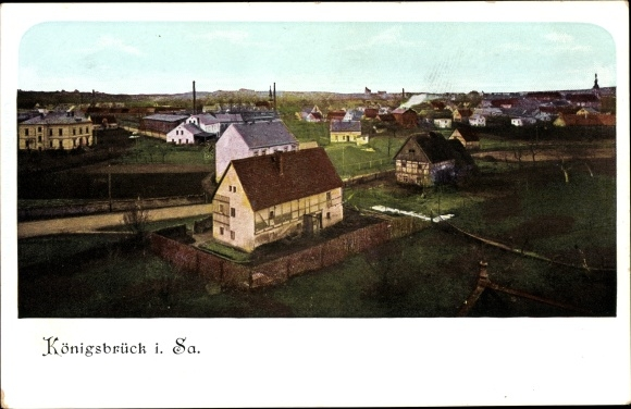 Ak Königsbrück in der Oberlausitz, Blick über Königsbrück