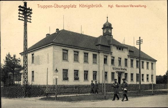 Ak Königsbrück in der Oberlausitz, Truppenübungsplatz, Kgl. Garnison Verwaltung