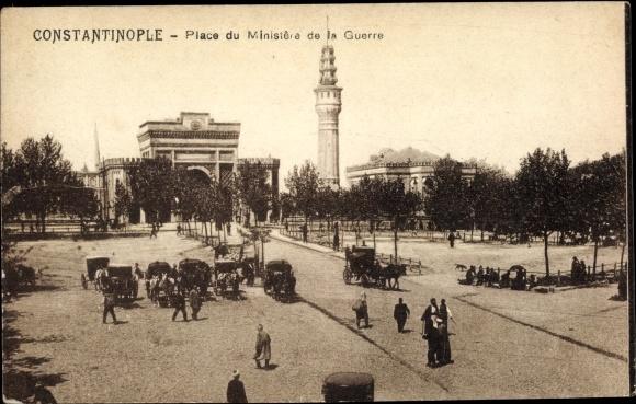 Ak Konstantinopel Istanbul Türkei, Place du Minstere de la Guerre