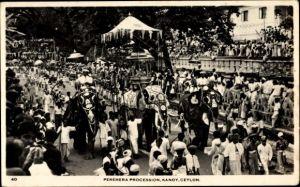 Ak Kandy Sri Lanka Ceylon, Perehera Procession, Prozession, Elefanten