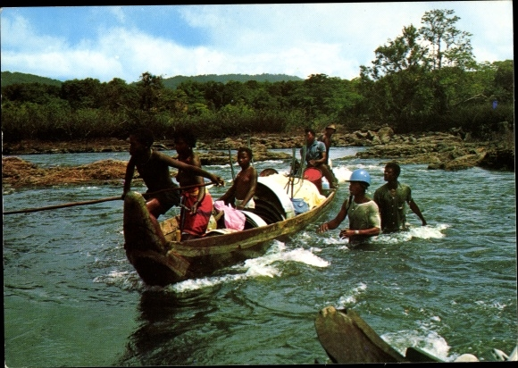Ak Guyane Francaise Französisch Guayana, Canotiers Bosch sur le fleuve Maroni