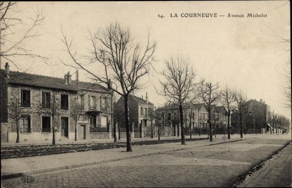 Ak La Courneuve Seine Saint Denis, Avenue Michelet