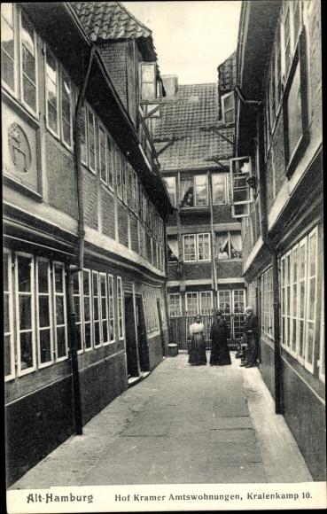 Ak Hamburg, Hof Kramer, Amtswohnungen, Kraienkamp 10