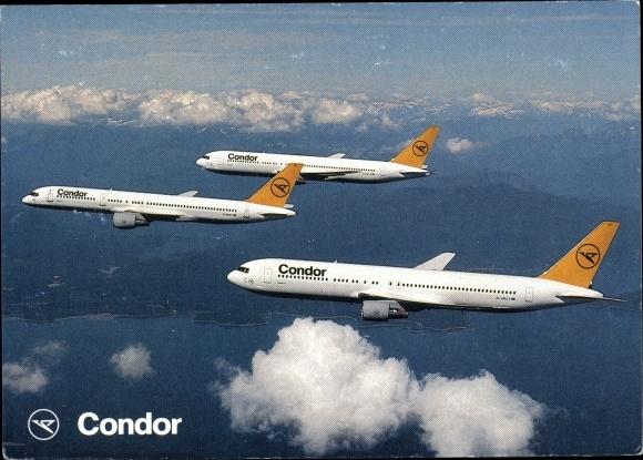 Ak Deutsches Passagierflugzeug, Condor, Boeing 767, B 757