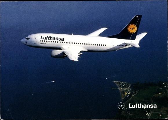 Ak Deutsches Passagierflugzeug, Lufthansa, Boeing 737-300
