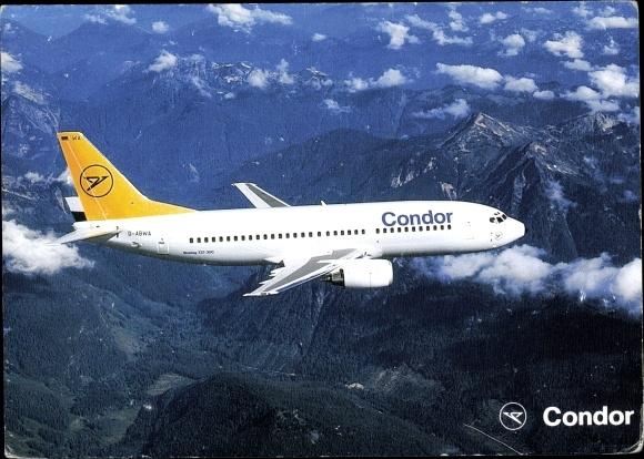 Ak Deutsches Passagierflugzeug, Condor, Boeing 737-300
