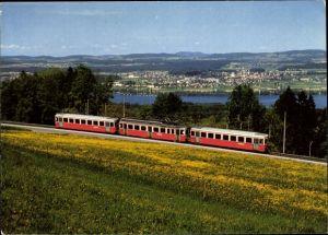Ak Deutsche Eisenbahn, Pendelzug der Forchbahn zwischen Forch und Esslingen