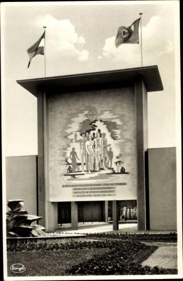 Ak Dresden, Der Rote Hahn Jahresschau Juni - September 1935, Der Ehrenhof, Teilansicht