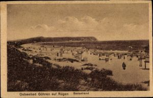 Ak Ostseebad Göhren auf Rügen, Badestrand