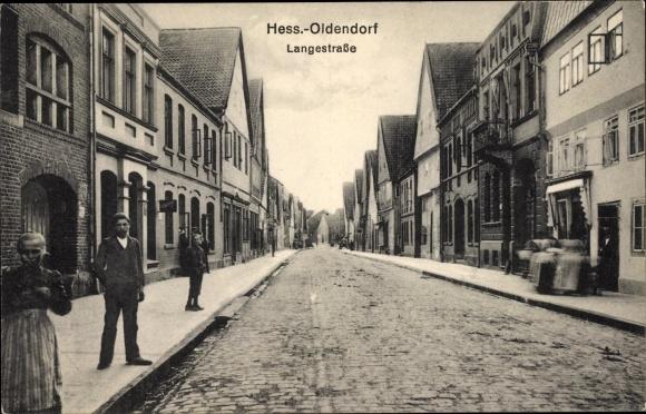 Ak Hessisch Oldendorf an der Weser, Langestraße, Geschäfte