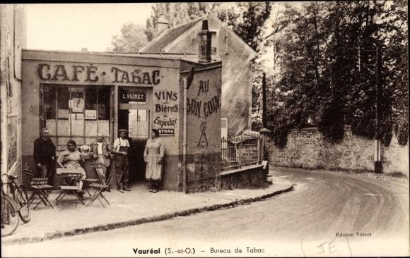 Ak Vauréal Val d'Oise, Bureau de Tabac, Café, Au bon Coin
