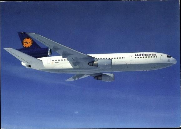 Ak Deutsches Passagierflugzeug, Lufthansa, McDonnell Douglas DC 10-30