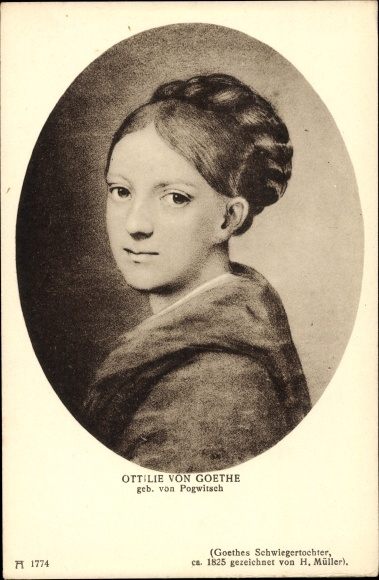 Künstler Ak Müller, H., Ottilie von Goethe, Schwiegertochter, Ackermann 1774