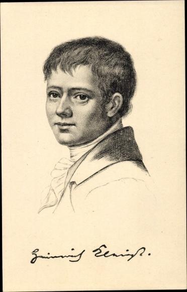 Künstler Ak Heinrich von Kleist, Dichter, Stengel 49039