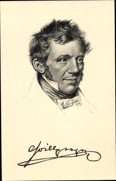 Künstler Ak Franz Grillparzer, Dichter, Stengel 49082